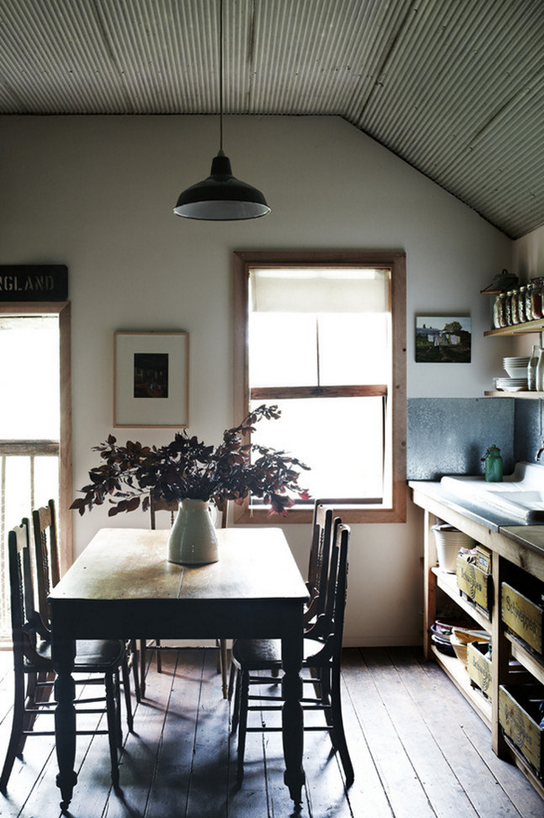 Tin-Ceiling-Rustic-Eat-In-Kitchen-Remodelista
