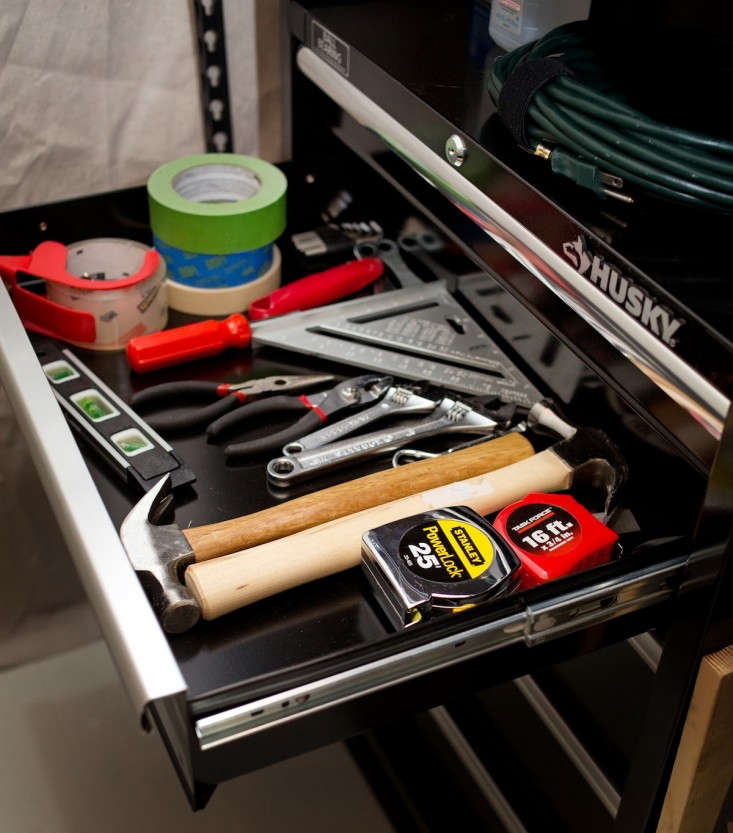 Tools in Husky Tool Chest, Remodelista
