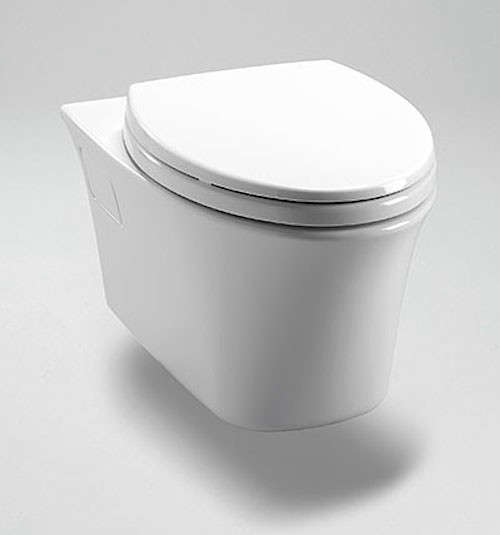 above the toto maris wallhung toilet and inwall tank system offers a clean skirted look and the technology toto is known for such as the watersaving