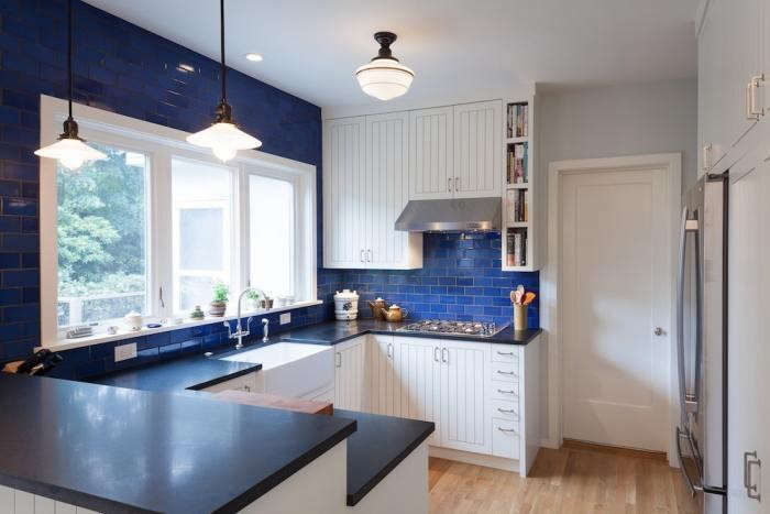 U-shaped-kitchen-blue-subway-tiles