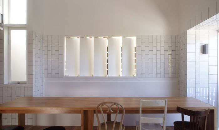 Vertical Subway Tile remodeling 101: white tile pattern glossary - remodelista