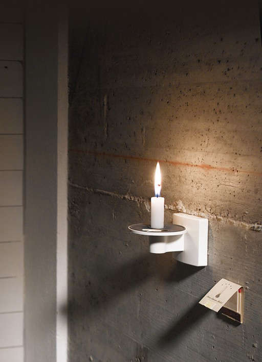 Wall Mounted Candle Lamps : Alvaline Candle Holder: Remodelista