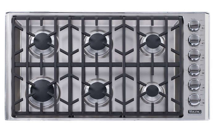 Viking 36 in stainless gas cooktop vgc5366bss remodelista for Viking 36 electric cooktop