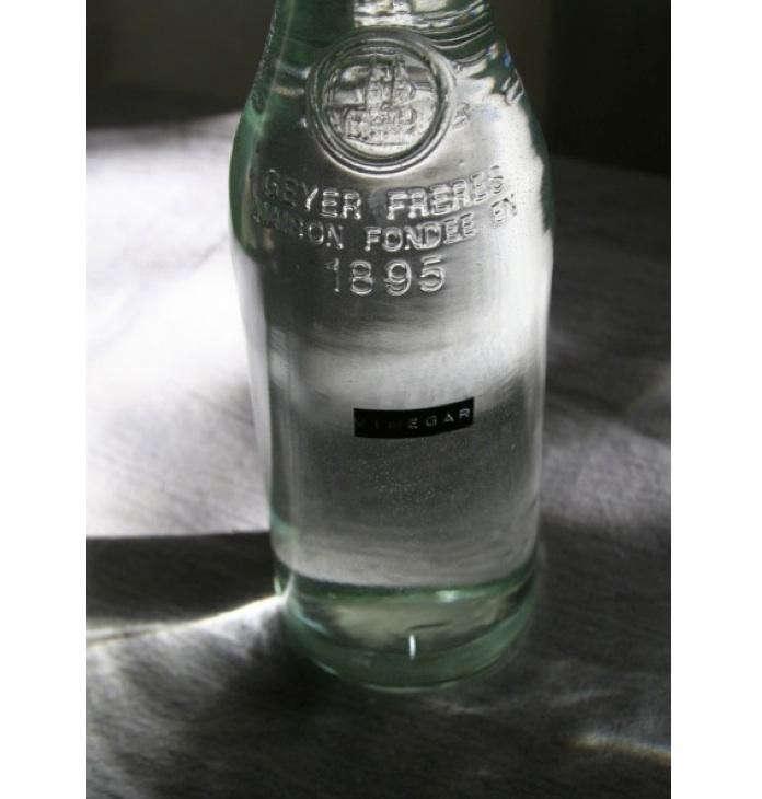 Vinegar-in-glass-bottle