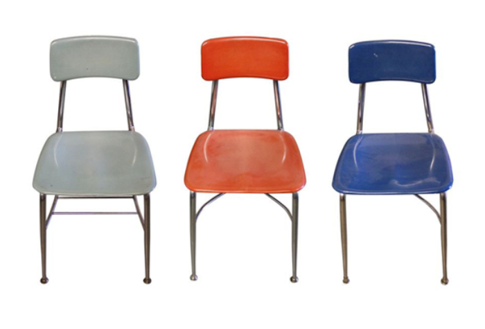 Vintage Schoolhouse Chairs_Chairish