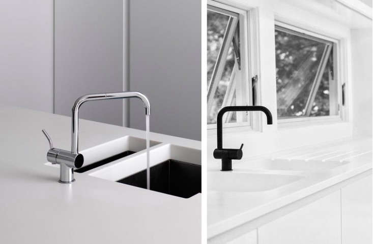 Vola Kv4 3 Hole Deck Mounted Basin Or Kitchen Faucet With