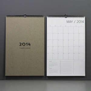 Wall Calendar of 2014 via Etsy I Remodelista