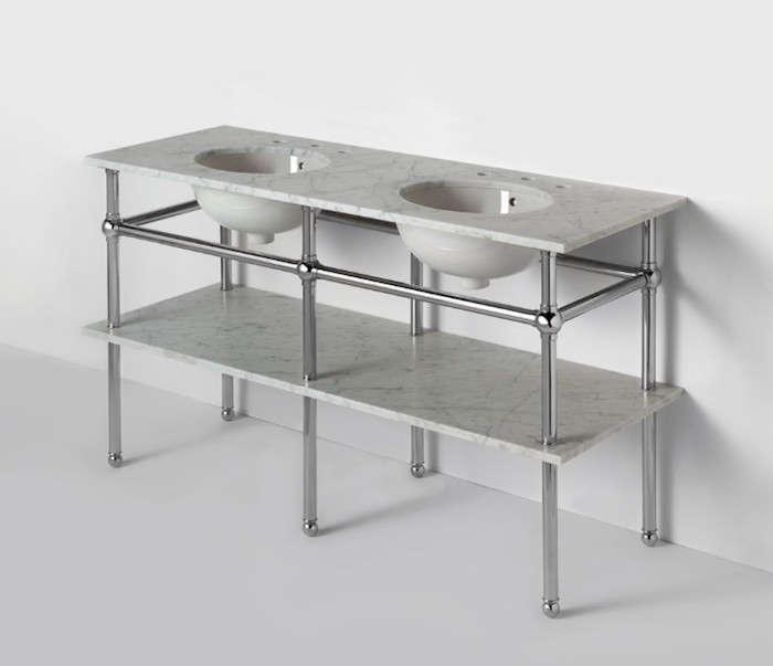 Waterworks-Metal-Six-Leg-Double-Washstand-Remodelista