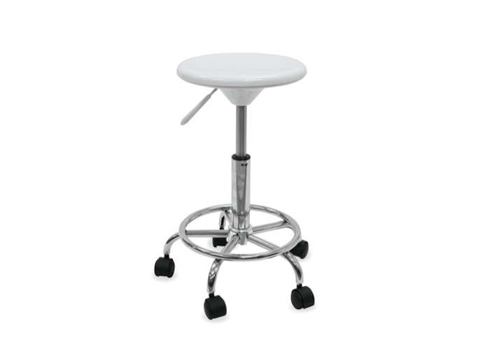 White-and-Chrome-Studio-Stool