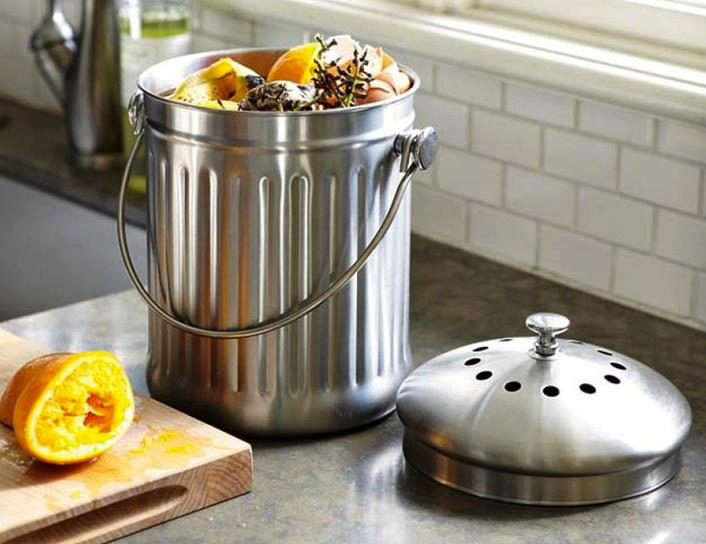 Williams-Sonoma-Stainless-steel-Pail-on-counter