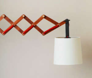 Wood Accordion Light from West Elm | Remodelista