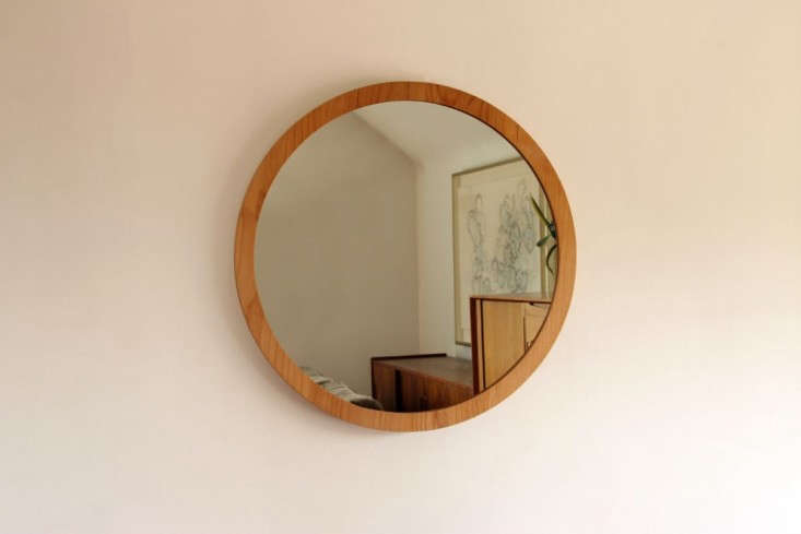 Wood-mirror-round