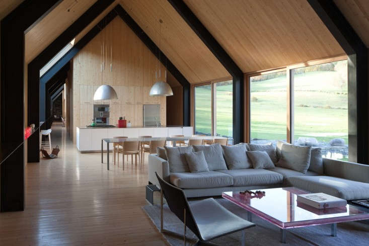 An iconic modern house in woodstock hits the market for The family room vermont