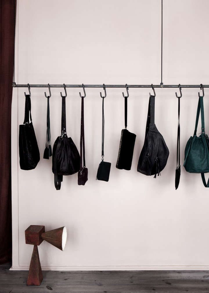 Copenhagen cool yvonne kon at work and home remodelista Ideas for hanging backpacks