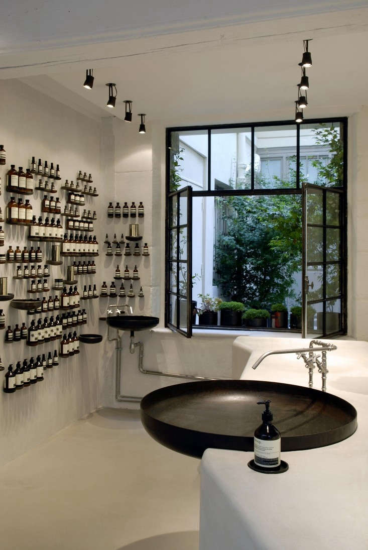 the aesop experience 19 favorite sinks at aesop stores. Black Bedroom Furniture Sets. Home Design Ideas