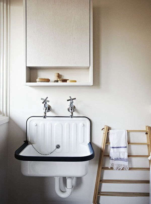 Enamel Utility Sink : Design Sleuth: The Alape Bucket Sink from Germany: Remodelista