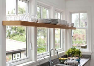 Kitchen Windows with Shelf/Remodelista