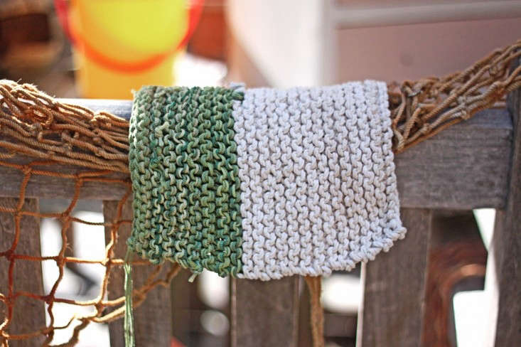 beach twine knits by Marnie Campbell, photo by Justine Hand, green and white