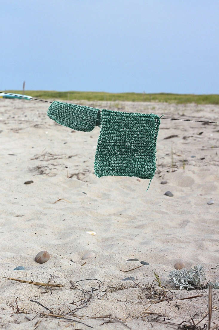 beach twine knits by Marnie Campbell, photo by Justine Hand, green mats
