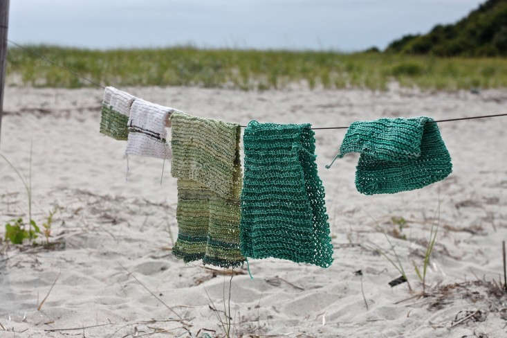 beach twine knits by Marnie Campbell, photo by Justine Hand, green samples