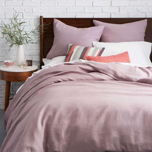 belgian linen duvet cover shams light amethyst remodelista. Black Bedroom Furniture Sets. Home Design Ideas
