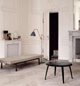 Bestlite BLM3M Floor Lamp in Matte Grey and Brass by Gubi I Remodelista