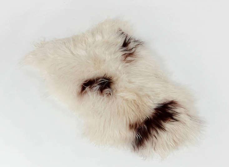 black-sheep-white-light-spotted-icelandic-sheepskin-remodelista