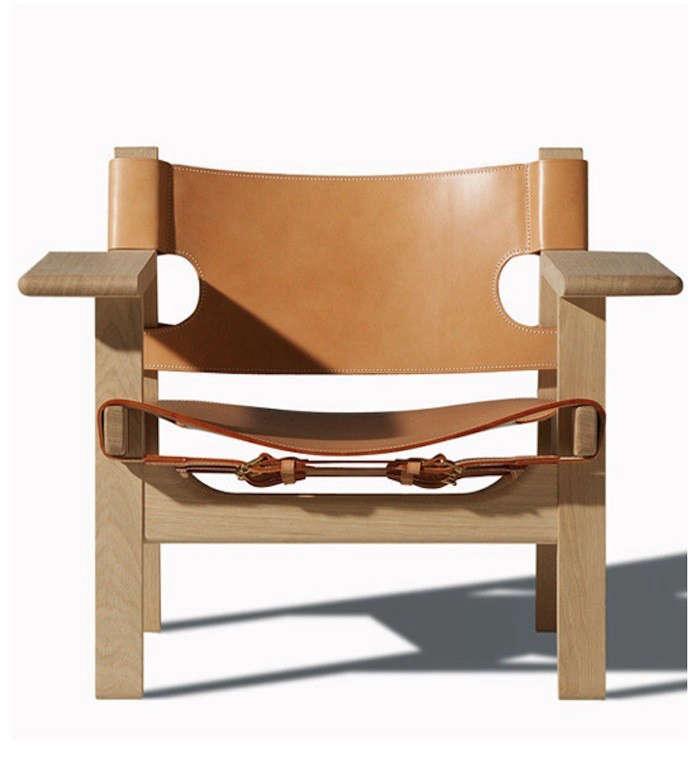 borge-mogensen-spanish-chair-oak-natural-leather-remodelista