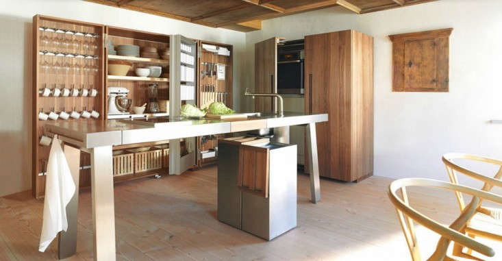 15 storage ideas to steal from high end kitchen systems for Bulthaup kitchen cabinets