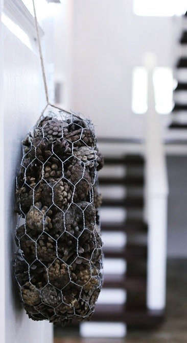 chicken-wire-pinecones-remodelista