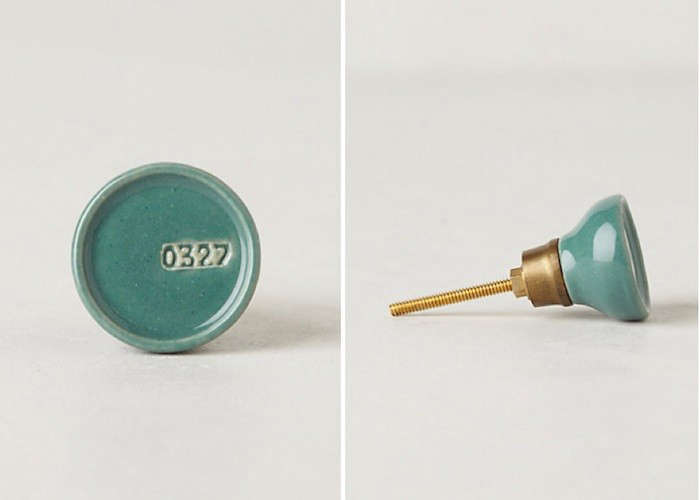 Color coded knobs artist 39 s palette edition remodelista for Turquoise door knobs