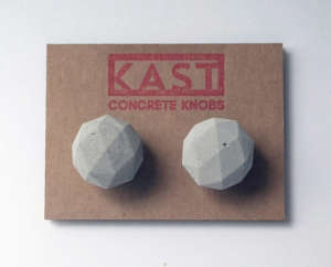 Concrete Knobs by Kast spotted on Design Sponge | Remodelista