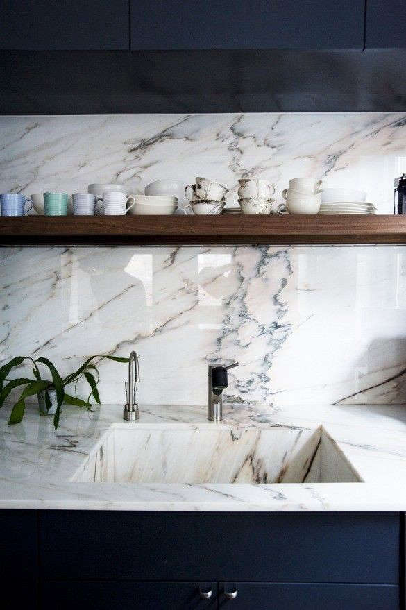Marble Basin : Above: A marble sink in the Crosby Street Loft by Elizabeth Roberts of ...