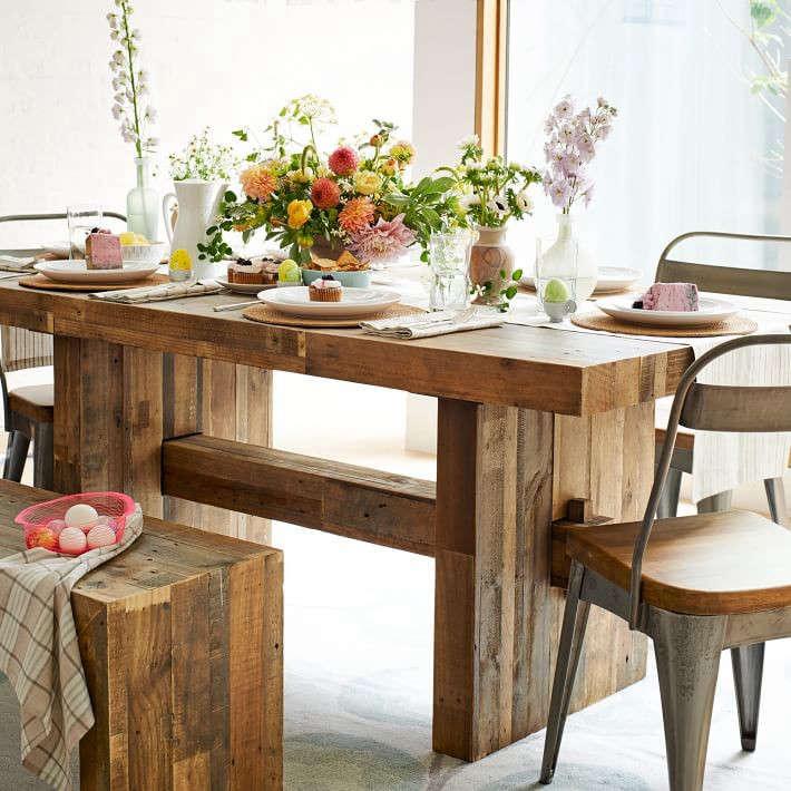 Emmerson Reclaimed Wood Dining Table, Reclaimed Wood Furniture Philadelphia
