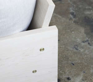 Farrah Sit and Rebecca Atwood Maple Sofa | Remodelista