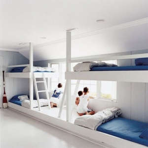 Four White Bunk Beds from Marie Claire Maison | Remodelista