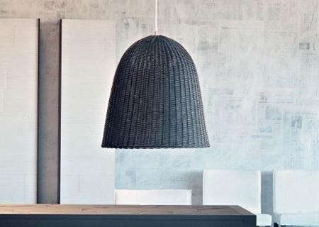 High Low Black Rattan Pendant Light Remodelista