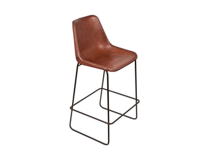 10 easy pieces leather barstools remodelista. Black Bedroom Furniture Sets. Home Design Ideas