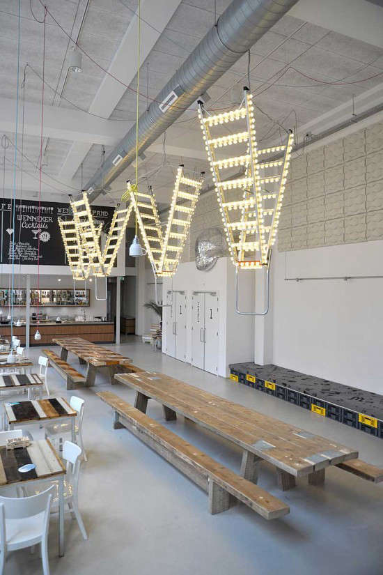Industrial light and magic a disco inspired cafe in for Living room 101 atlantic ave boston