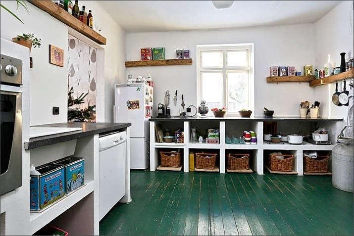 Palette & Paints: 9 Kitchen Floors Gone Green: Remodelista
