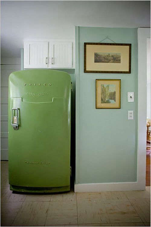 Trend Alert: 13 Kitchens with Colored Refrigerators ...