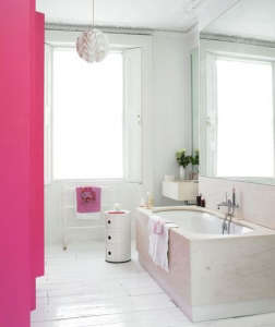 Hot Pink Shower Curtain/Remodelista
