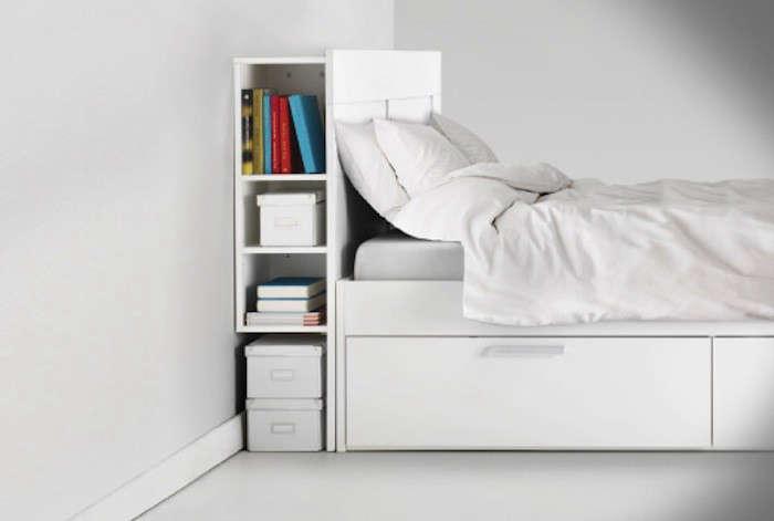 Brimnes headboard remodelista - Tete de lit avec rangement ikea ...