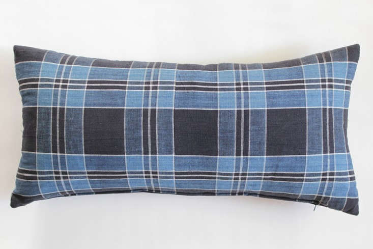 japanese-bright-blue-plaid-pillow-remodelista