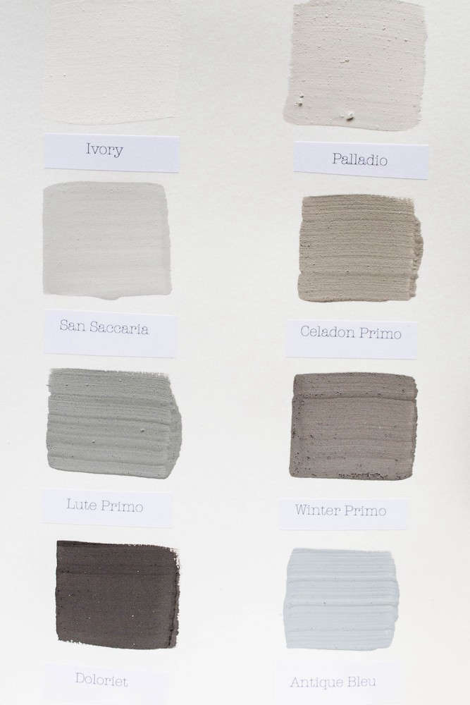 Beautiful Color Sample Card With The Following Colors Ivory
