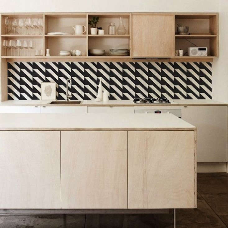 The instant backsplash stain resistant wallpaper from the for Kitchen backsplash wallpaper