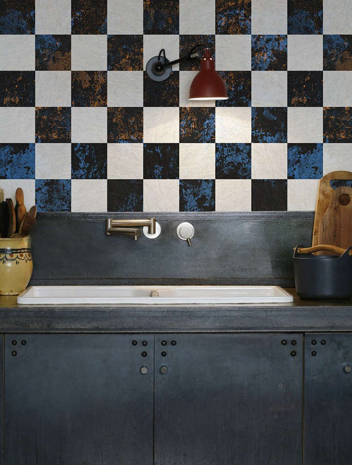 The instant backsplash waterproof wallpaper from the for Kitchen backsplash wallpaper
