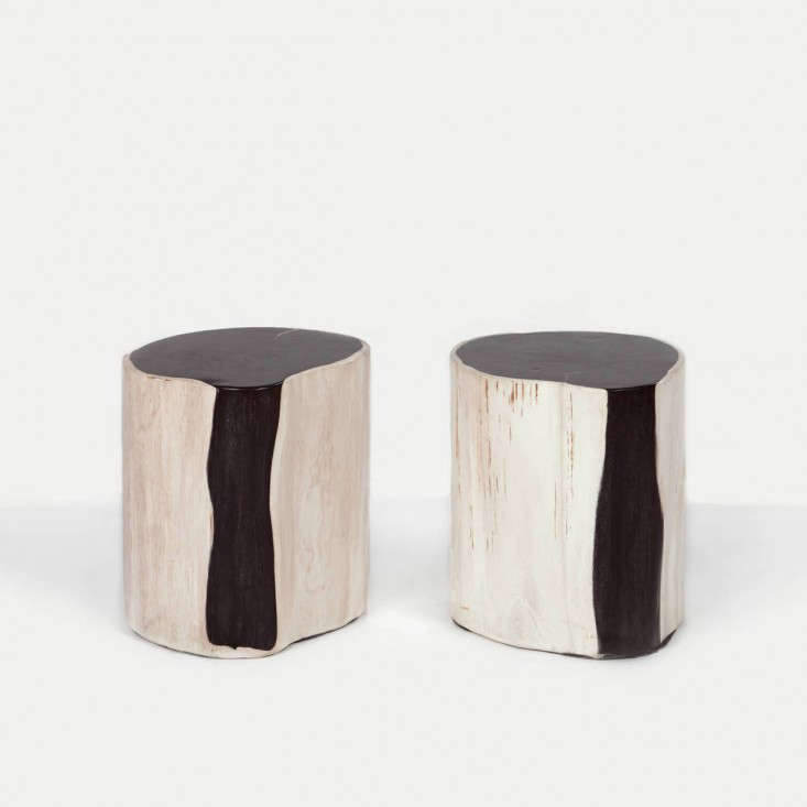 Andrianna Shamaris Pair Of Petrified Wood Side Tables Remodelista