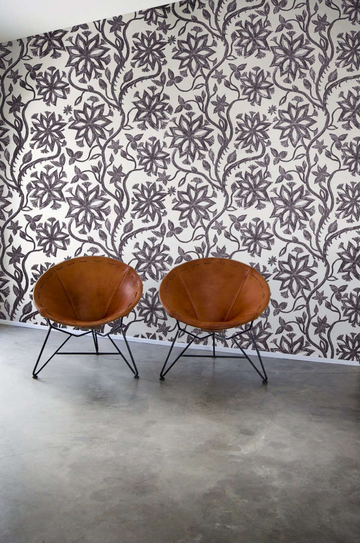 laviva-home-khovar-collection-flower-wallpaper-with-garza-marfa-chairs-Remodelista