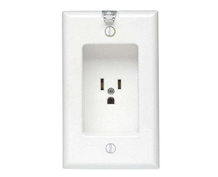 Leviton 688 W 1 Gang Recessed Single Receptacle Remodelista
